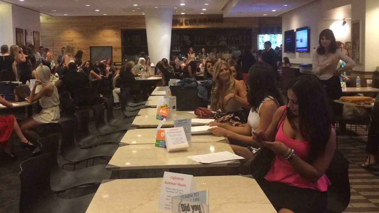Hundreds of women came out for a casting call for The Bachelor in New York City.