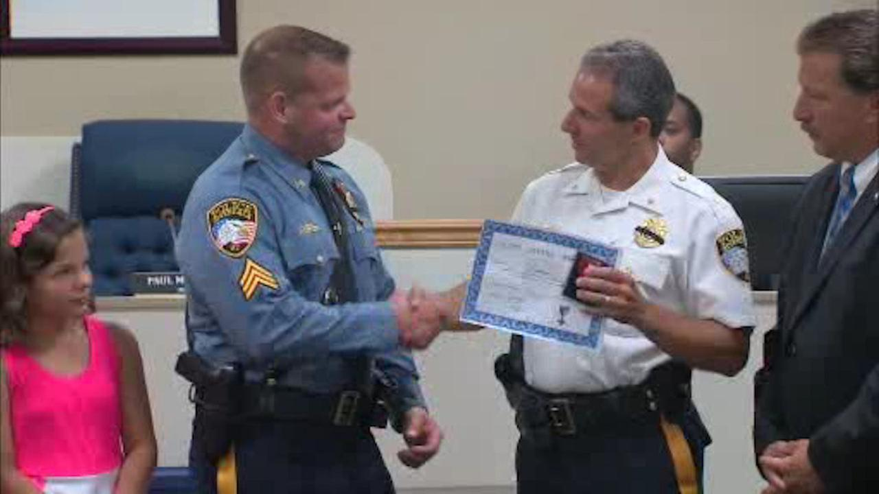 New Jersey cop honored for saving man's life on Route 287