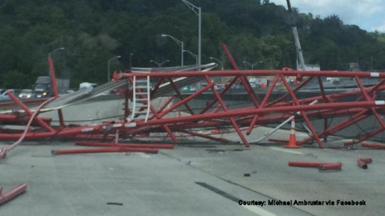 Overhead Crane New Jersey : Crane collapses on tappan zee bridge in new york abc