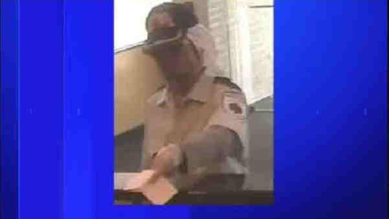 A man wearing what appears to be a uniform attempted to rob a Long Island bank Tuesday.