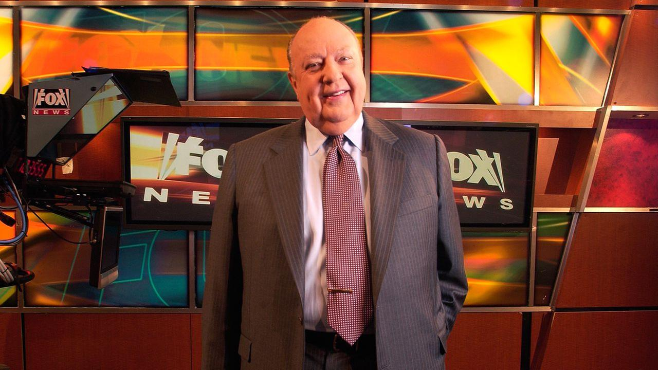 In a Sept. 29, 2006 file photo, Fox News CEO Roger Ailes poses at Fox News in New York.