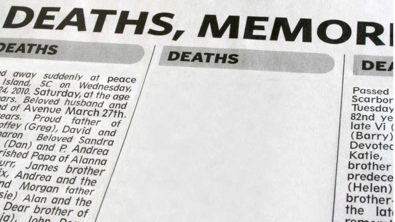NJ man's dueling obituaries: Wife named in 1, girlfriend in other