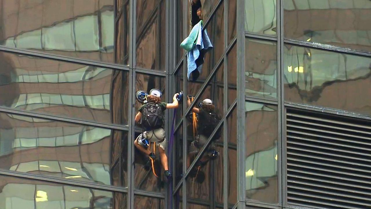 Reaction to Trump Tower climber on social media