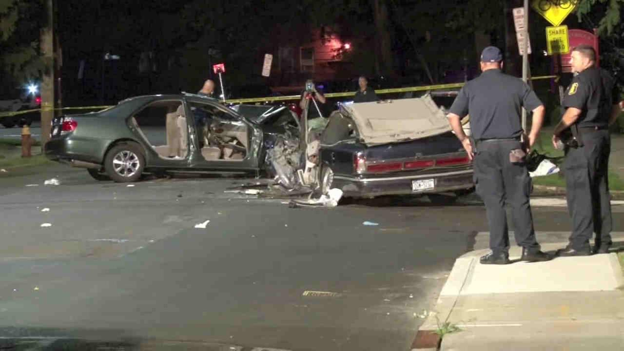 A head-on crash in Yonkers Thursday night seriously injured three people.