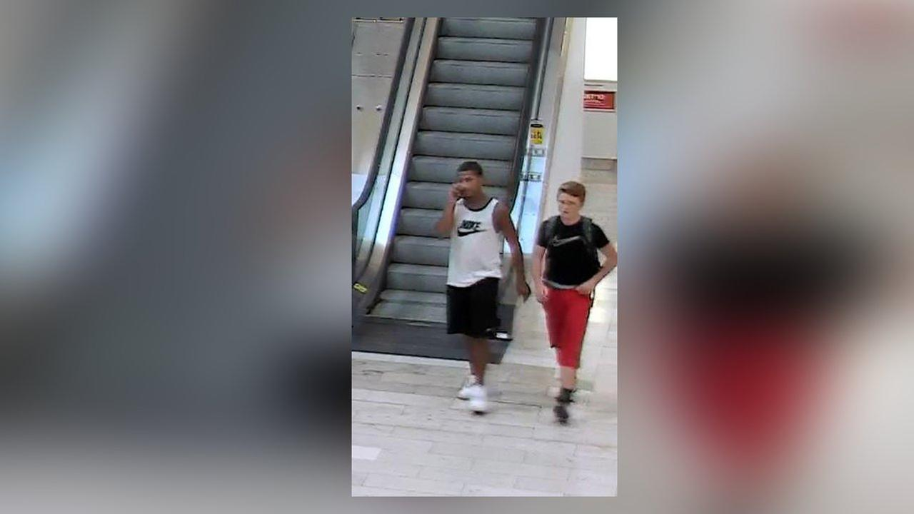 Image of 2 suspected of setting off fireworks, causing chaos at Staten Island Mall