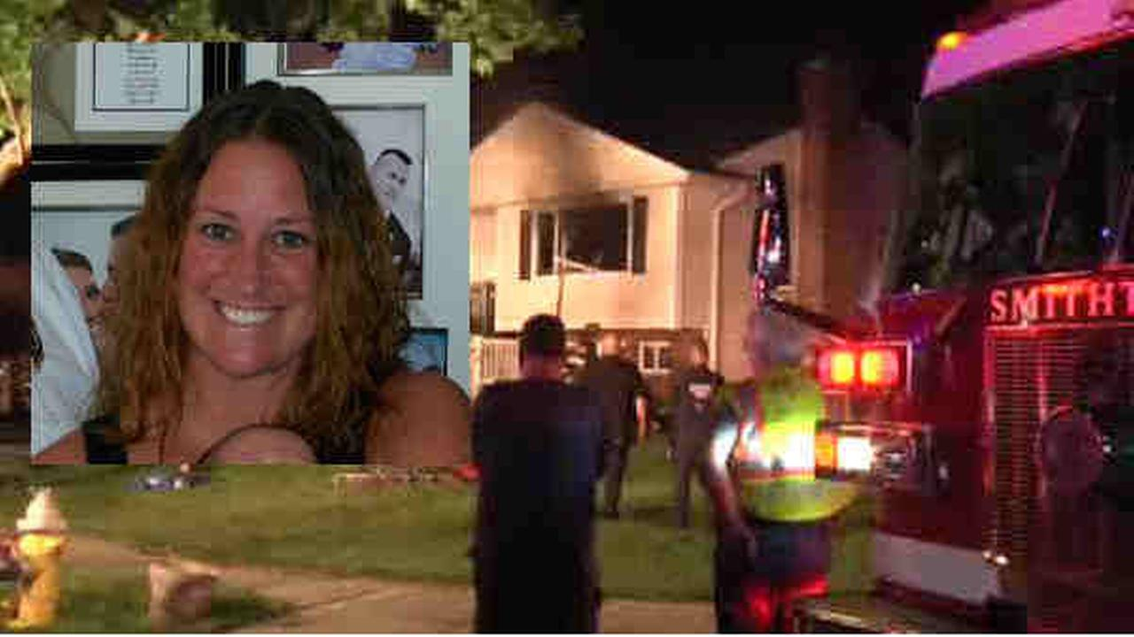 Kristin Sidik was in the house in Smithtown when it caught fire overnight Tuesday.