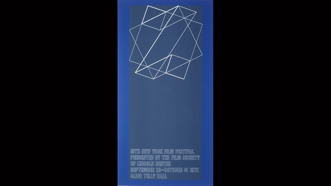 Poster Artist: Josef Albers. 1972New York Film Festival