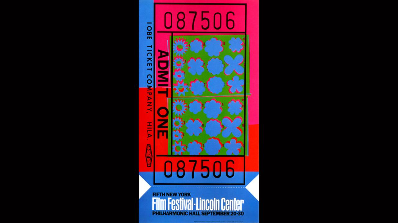 Poster Artist: Andy Warhol.  1967New York Film Festival
