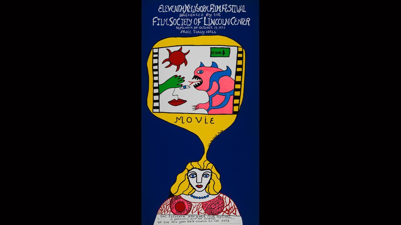 Poster Artist: Niki de Saint Phalle. 1973New York Film Festival