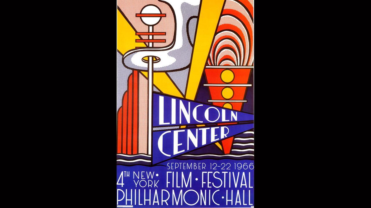 Poster Artist: Roy Lichtenstein.  1966New York Film Festival