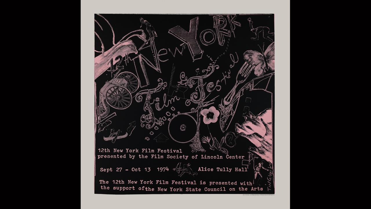 Poster Artist: Jean Tinguely. 1974New York Film Festival