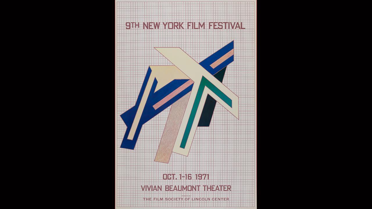 Poster Artist: Frank Stella. 1971New York Film Festival