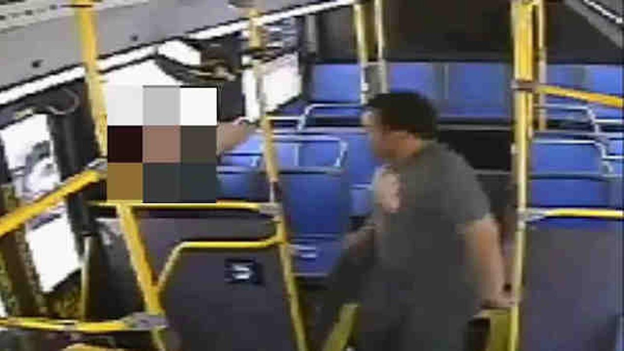 Police are looking for a man in connection with a brutal attack on an MTA bus in Queens.
