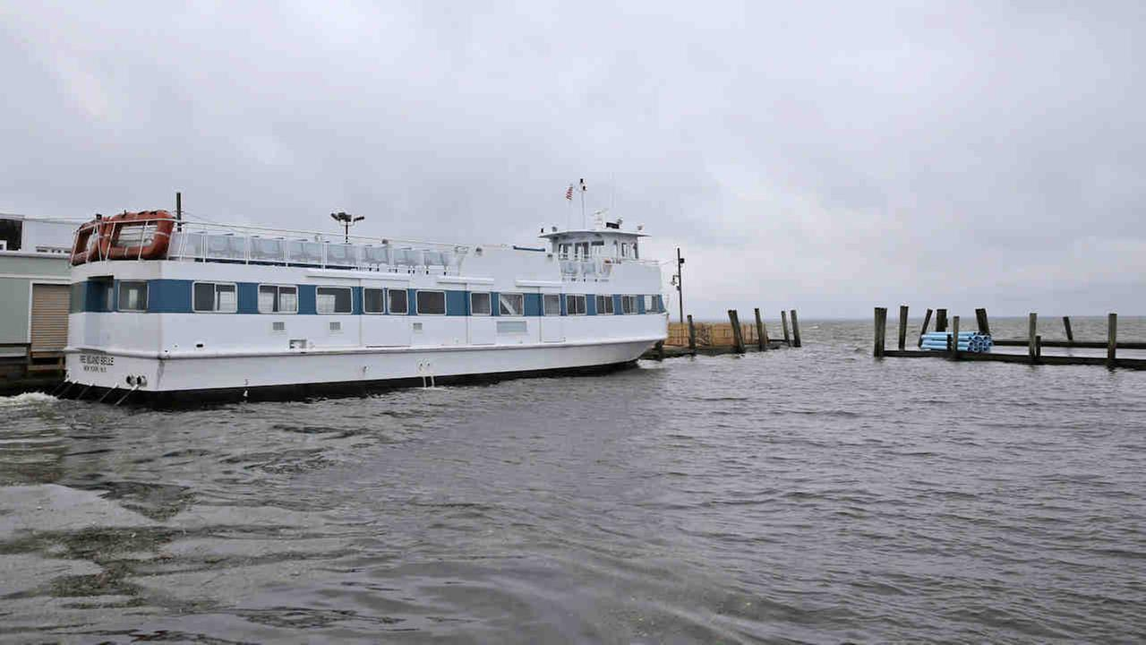 The Fire Island ferry is seen docked in Ocean Beach in 2014.