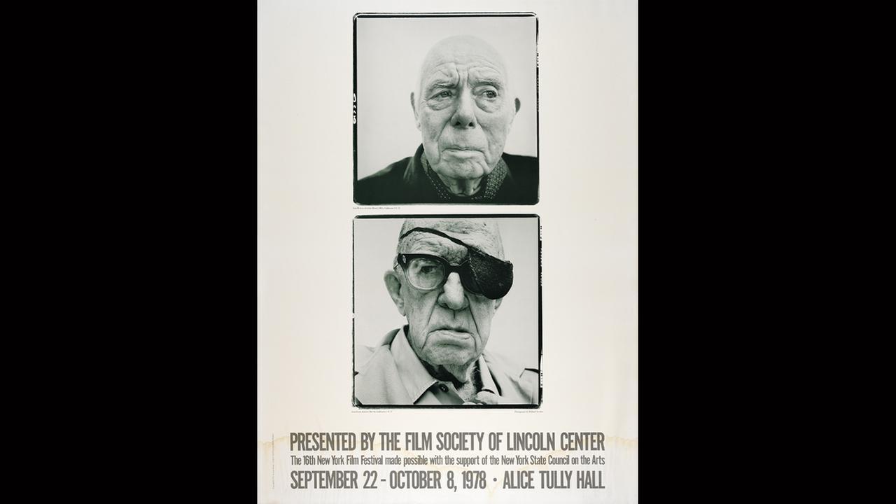 Poster Artist: Richard Avedon. 1978Film Society of Lincoln Center