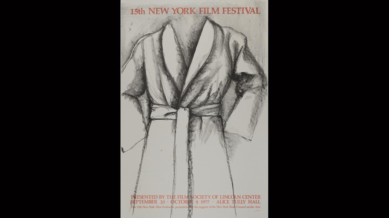 Poster Artist: Jim Dine. 1977Film Society of Lincoln Center