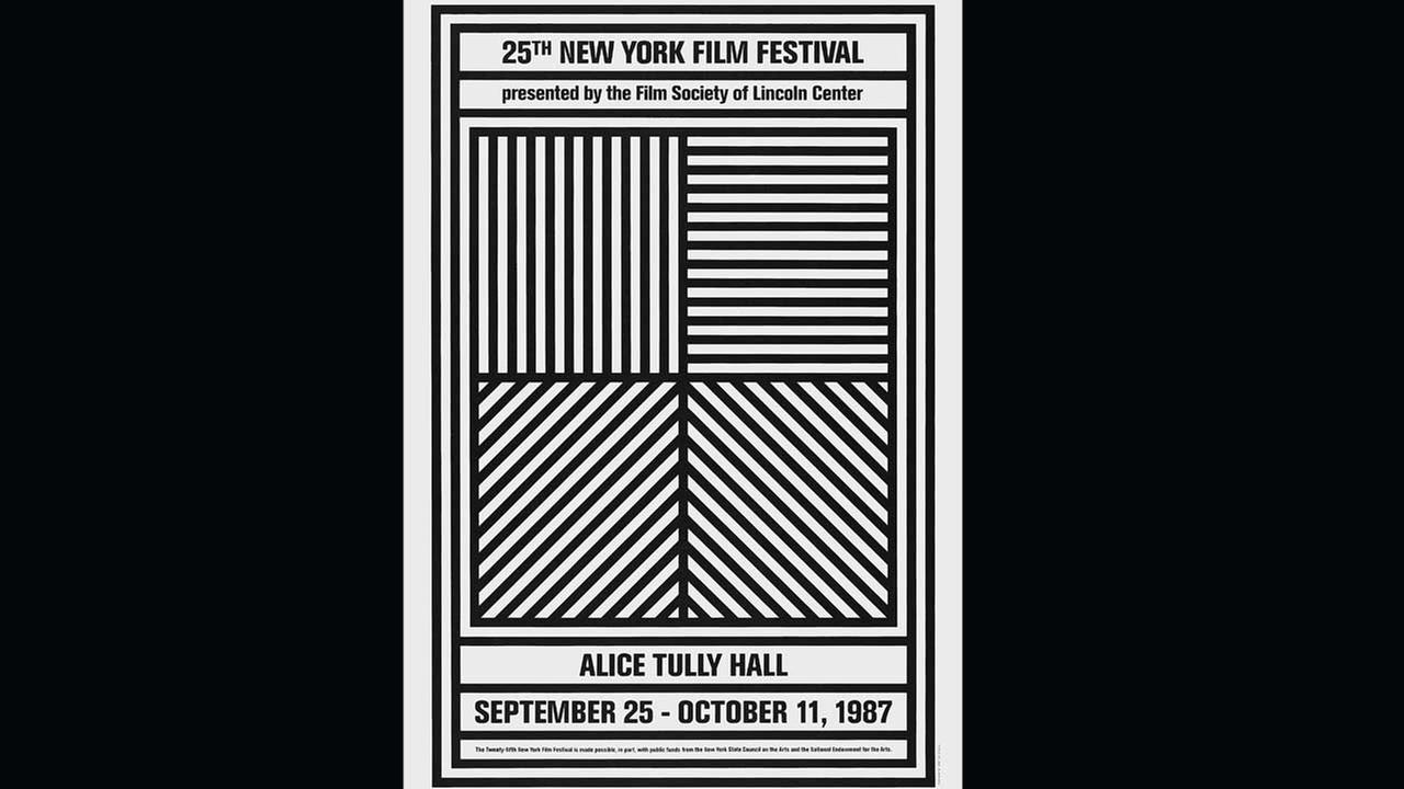 Poster Artist: Sol Lewitt. 1987Film Society of Lincoln Center