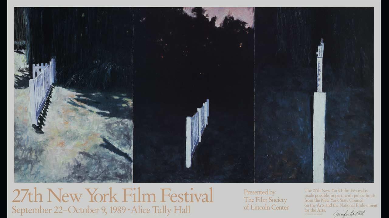 Poster Artist: Jennifer Bartlett. 1989Film Society of Lincoln Center