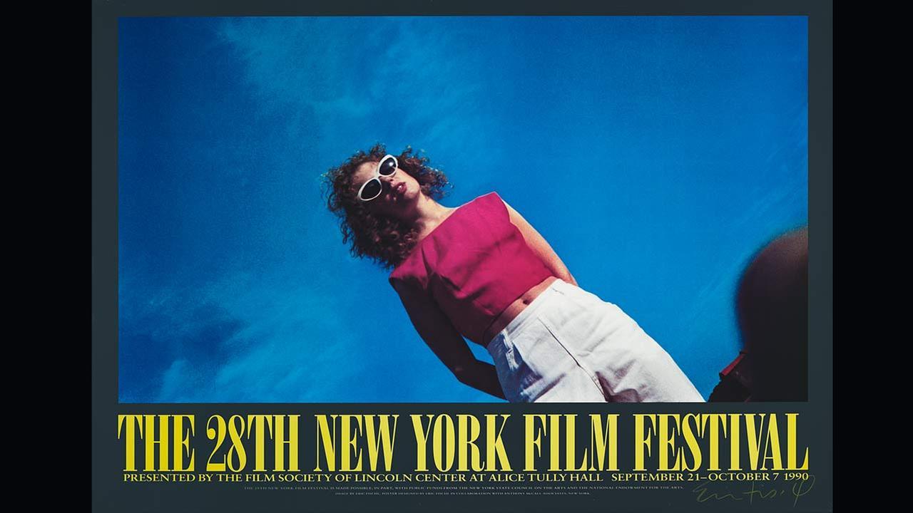 Poster Artist: Eric Fischl. 1990Film Society of Lincoln Center