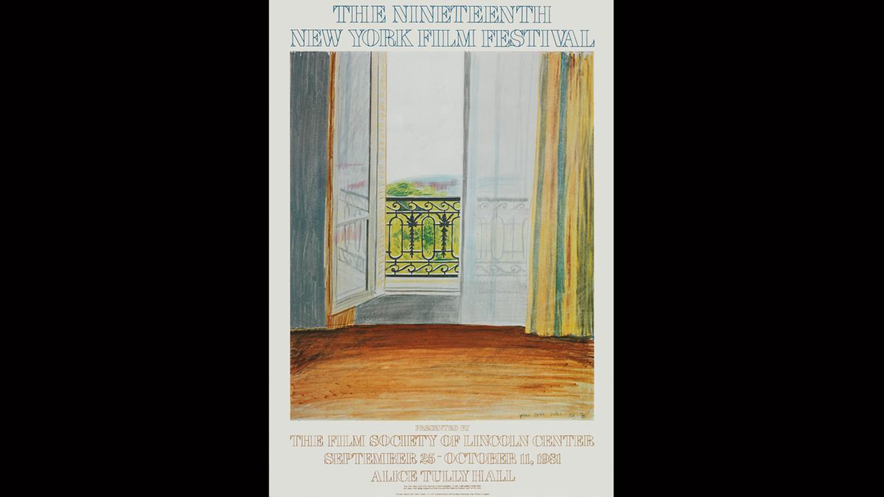 Poster Artist: David Hockney. 1981Film Society of Lincoln Center