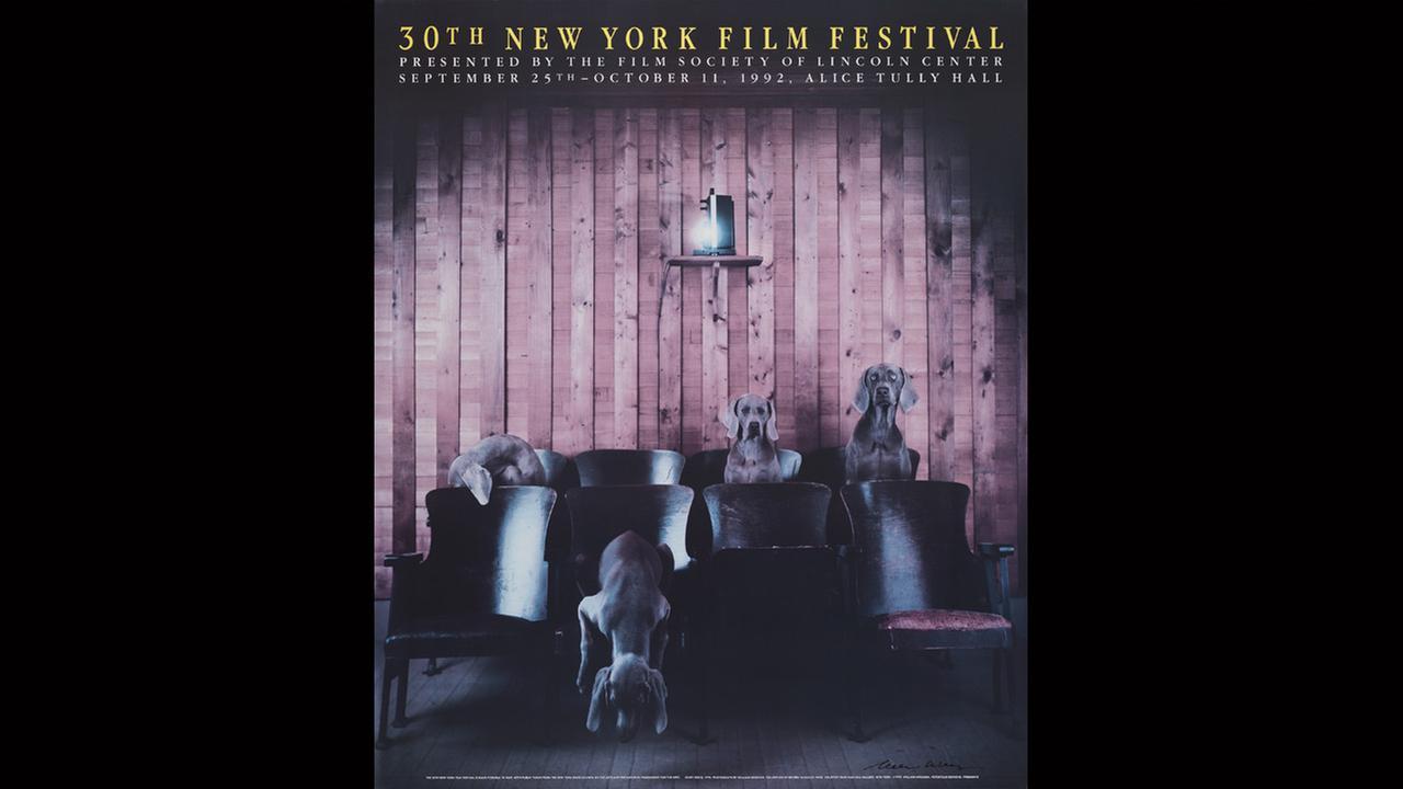 Poster Artist: William Wegman. 1992Film Society of Lincoln Center