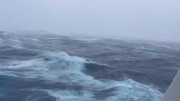 Passengers On Cruise Ship From NJ Document Rough Seas Massive - Cruise ship hits rough seas