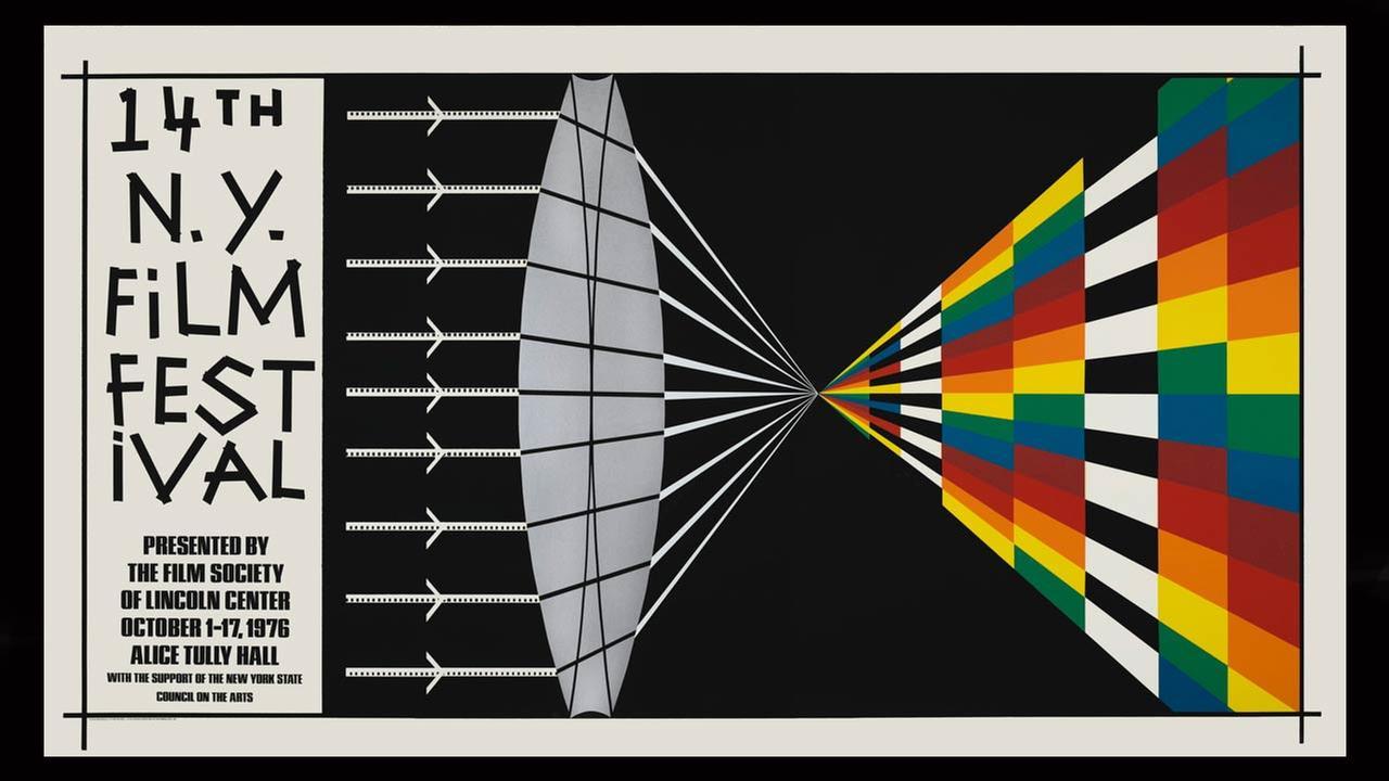 Poster Artist: Allan DArcangelo. 1976New York Film Festival