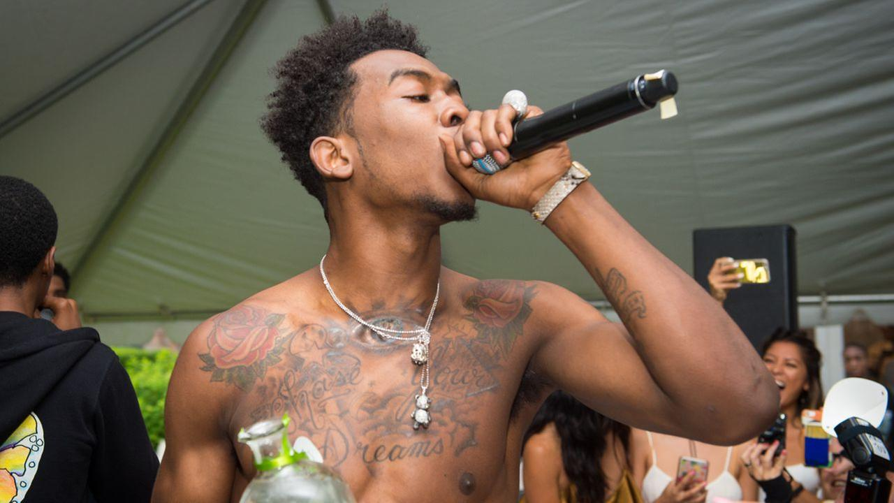 Rapper Desiigner performs at the Revolve Summer Splash Party at the Revolve Hamptons House on Saturday, July 9, 2016, in New York.