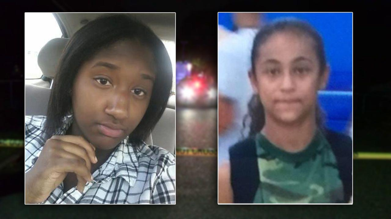 15-year-old Nisa Mickens (left) and 16-year-old Kayla Cuevas
