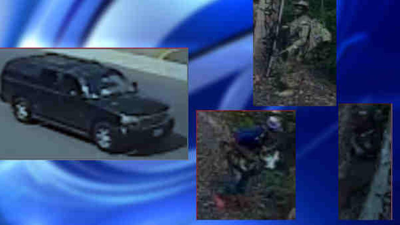 Police are looking into a group of men seen near some New Jersey Transit train tracks.