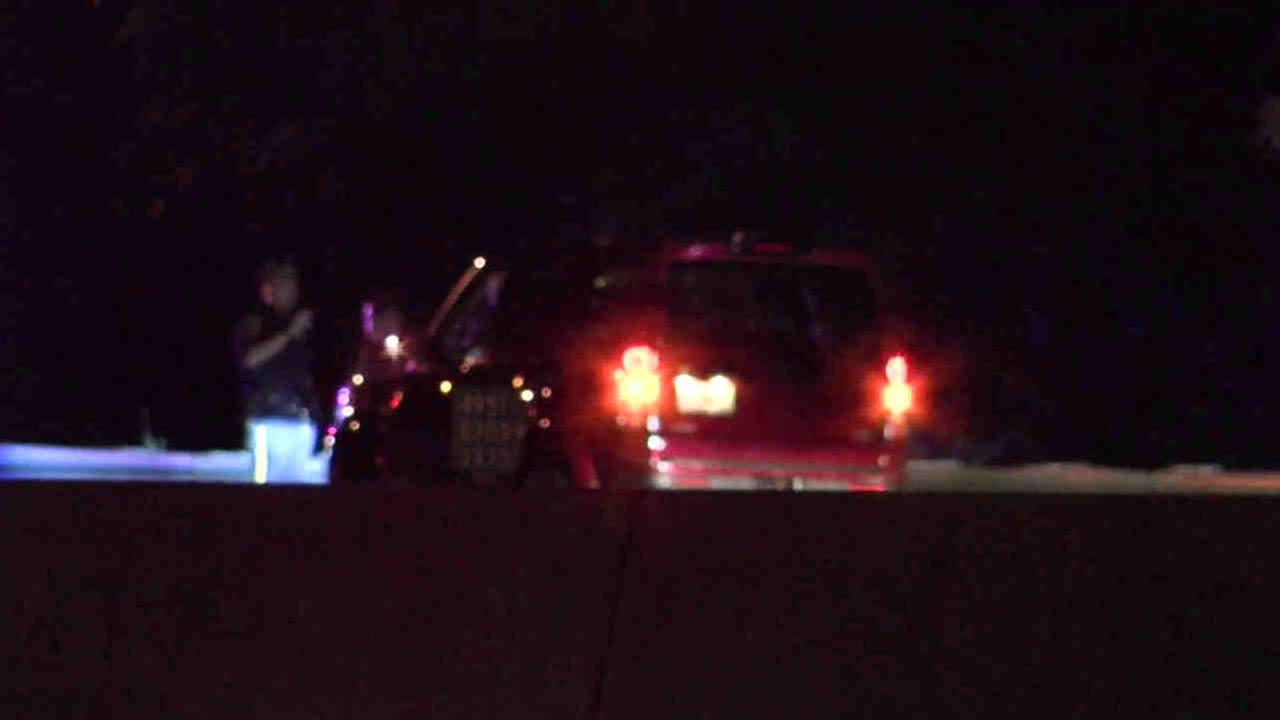 A shot was fired at a drivers car after she refused to pull over during a robbery on Long Island Thursday.