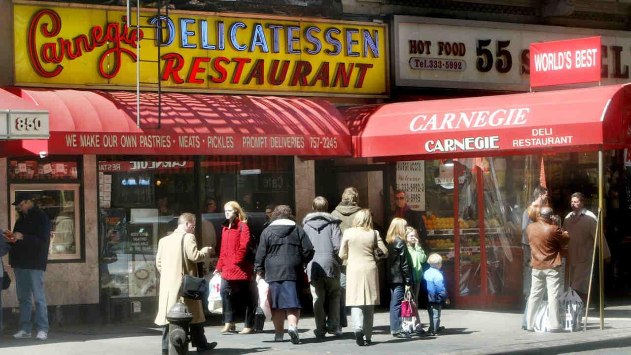 This April 6, 2004 file photo shows the exterior of the Carnegie Deli and Restaurant in New York.