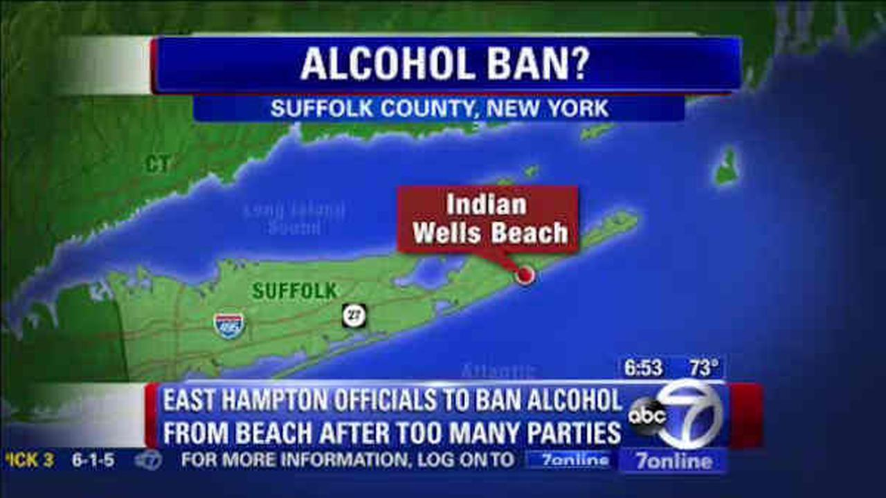 Hamptons close to banning booze on Indian Wells Beach