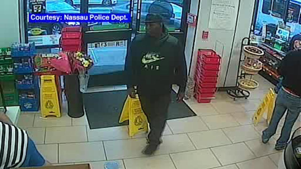 Search for armed robbery suspect on LI who torched getaway vehicle