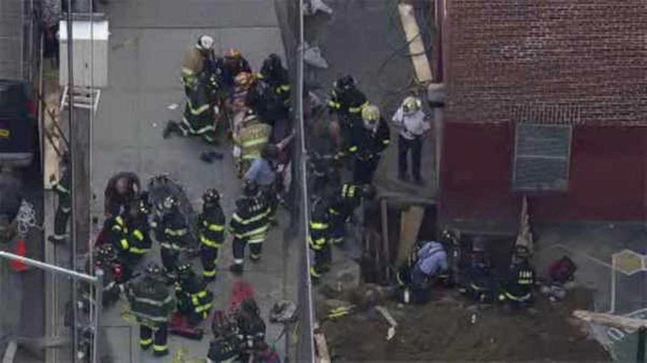 FDNY rescues 2 men trapped 10 feet down Bronx trench