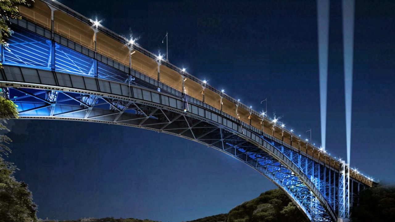 Futuristic plan for NY includes LED bridge lighting in color