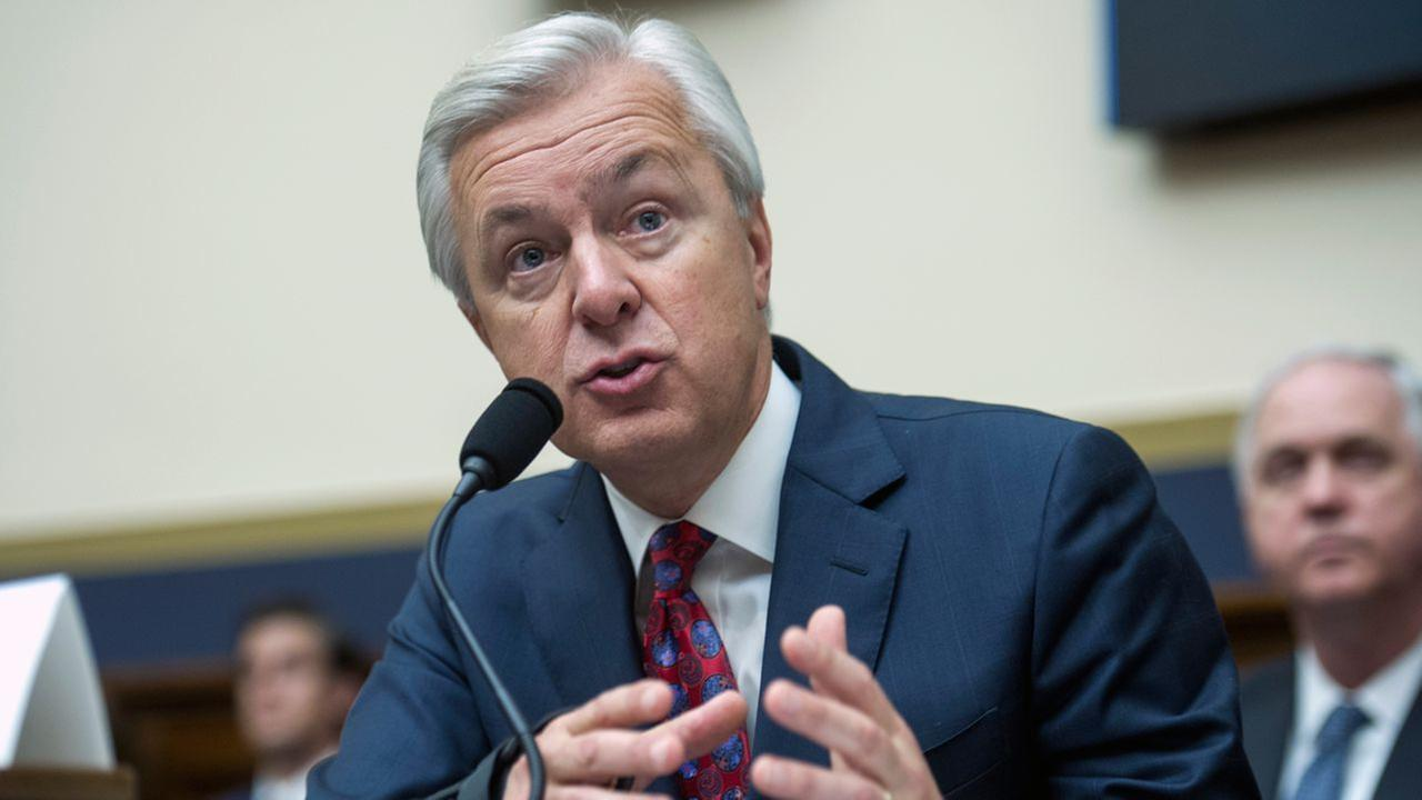 Wells Fargo CEO John Stumpf testifies on Capitol Hill in Washington, Thursday, Sept. 29, 2016, before the House Financial Services Committee investigating Wells Fargo.