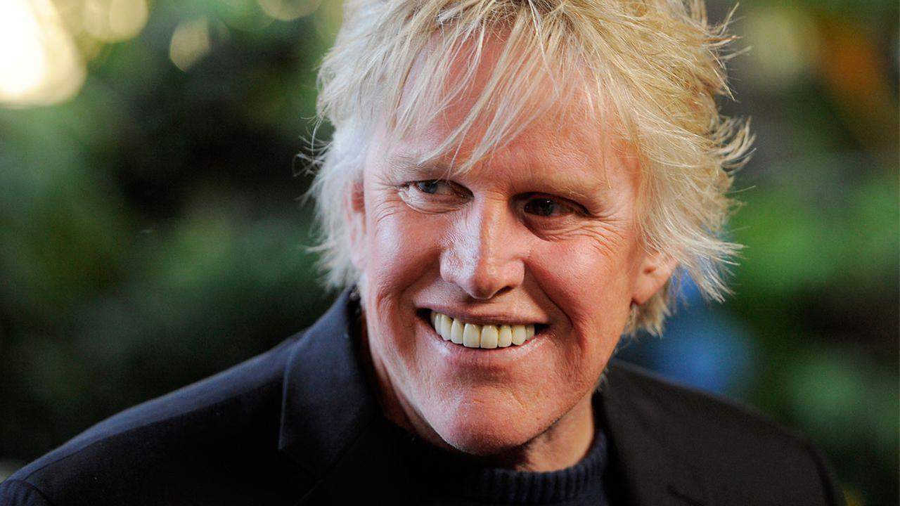 Gary Busey, a cast member in the television series Mr. Box Office, poses at the Entertainment Studios Daytime Emmy and series launch party at the Four Seasons Hotel.