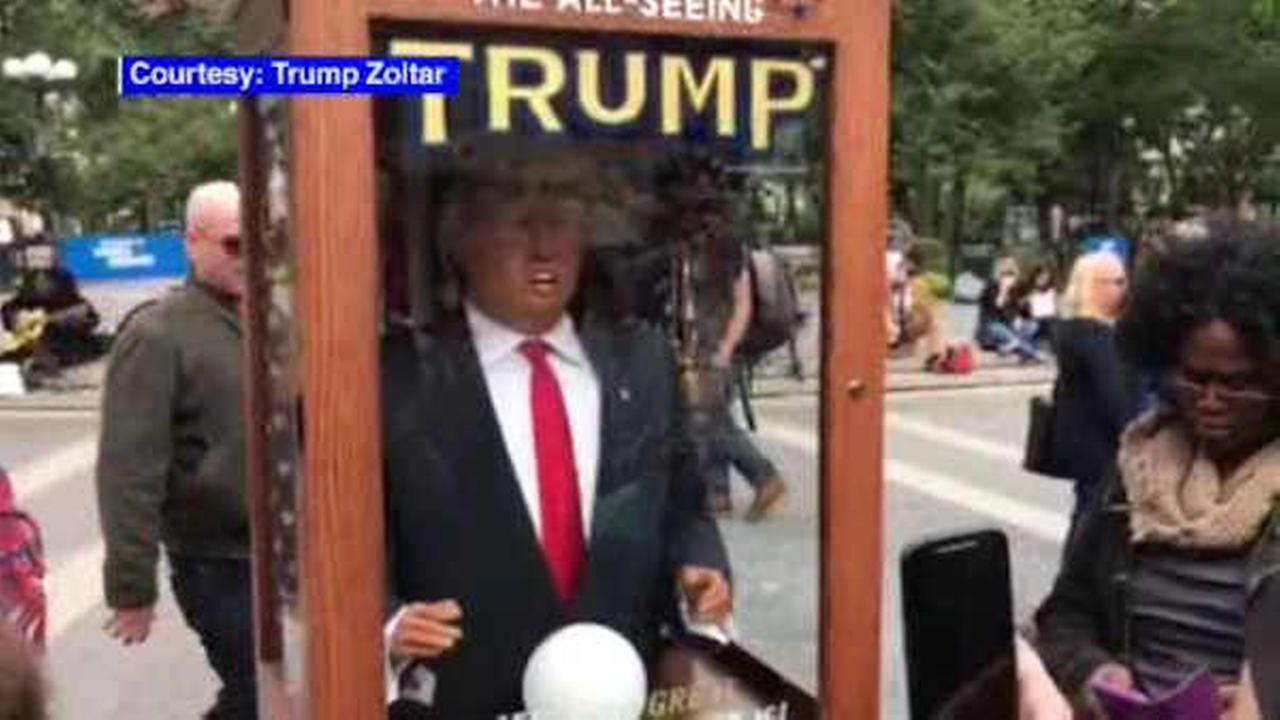 Donald Trump 'Zoltar' fortune-telling machine appears in NYC