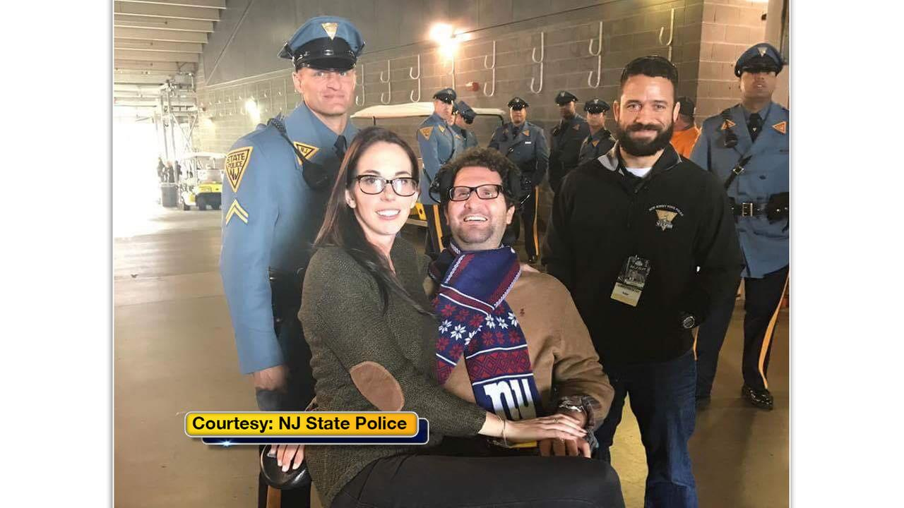 Even though the Eagles didnt win, it was still a celebration for all New Jersey State Police.