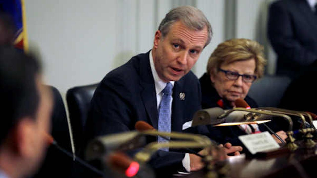 In this 2014 file photo, Assemblyman John S. Wisniewski, center, and Sen. Loretta Weinberg, right, address a legislative committee (AP Photo/Mel Evans, File)