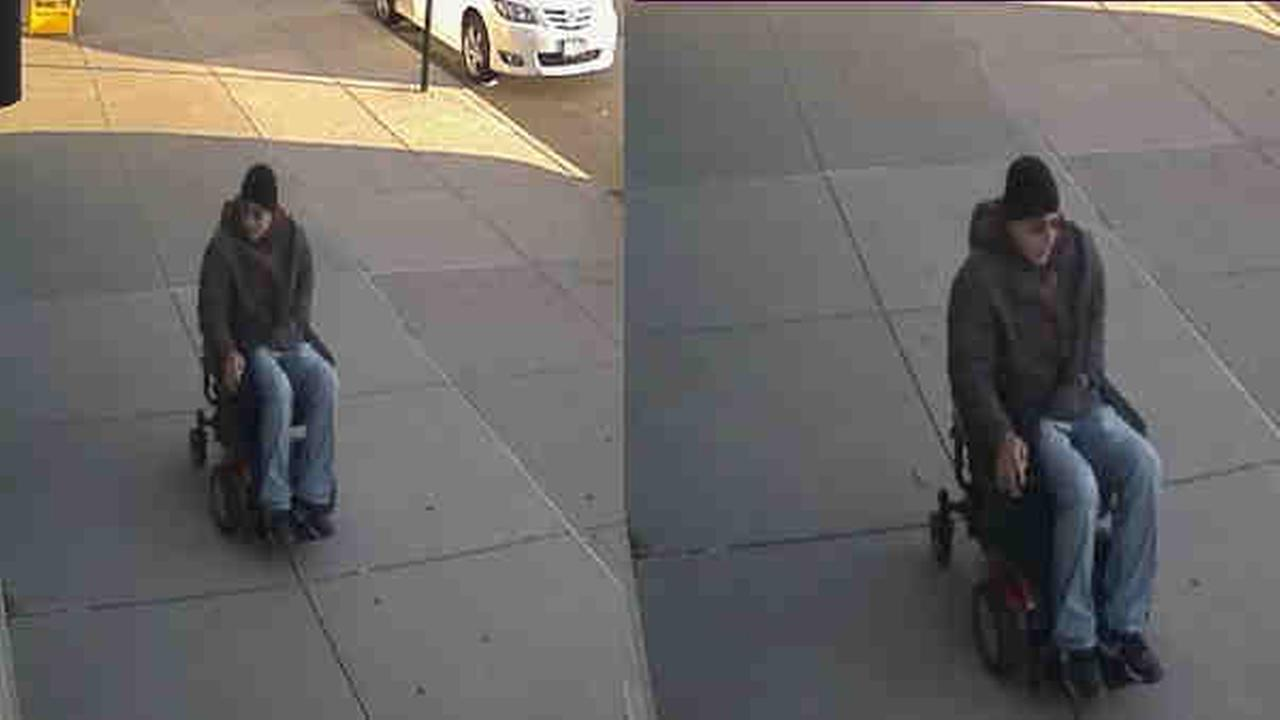 Police are looking for a suspect after a womans motorized wheelchair was stolen.
