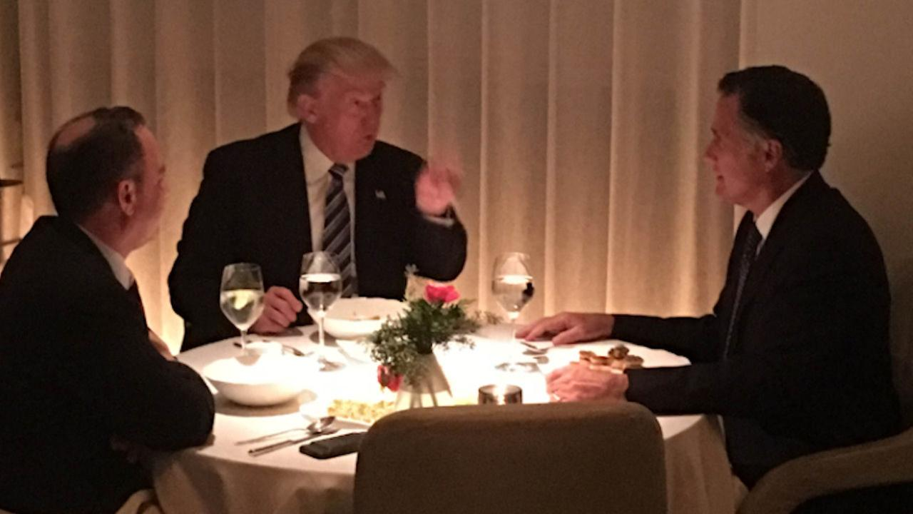 Trump and Romney dine on the Upper West Side