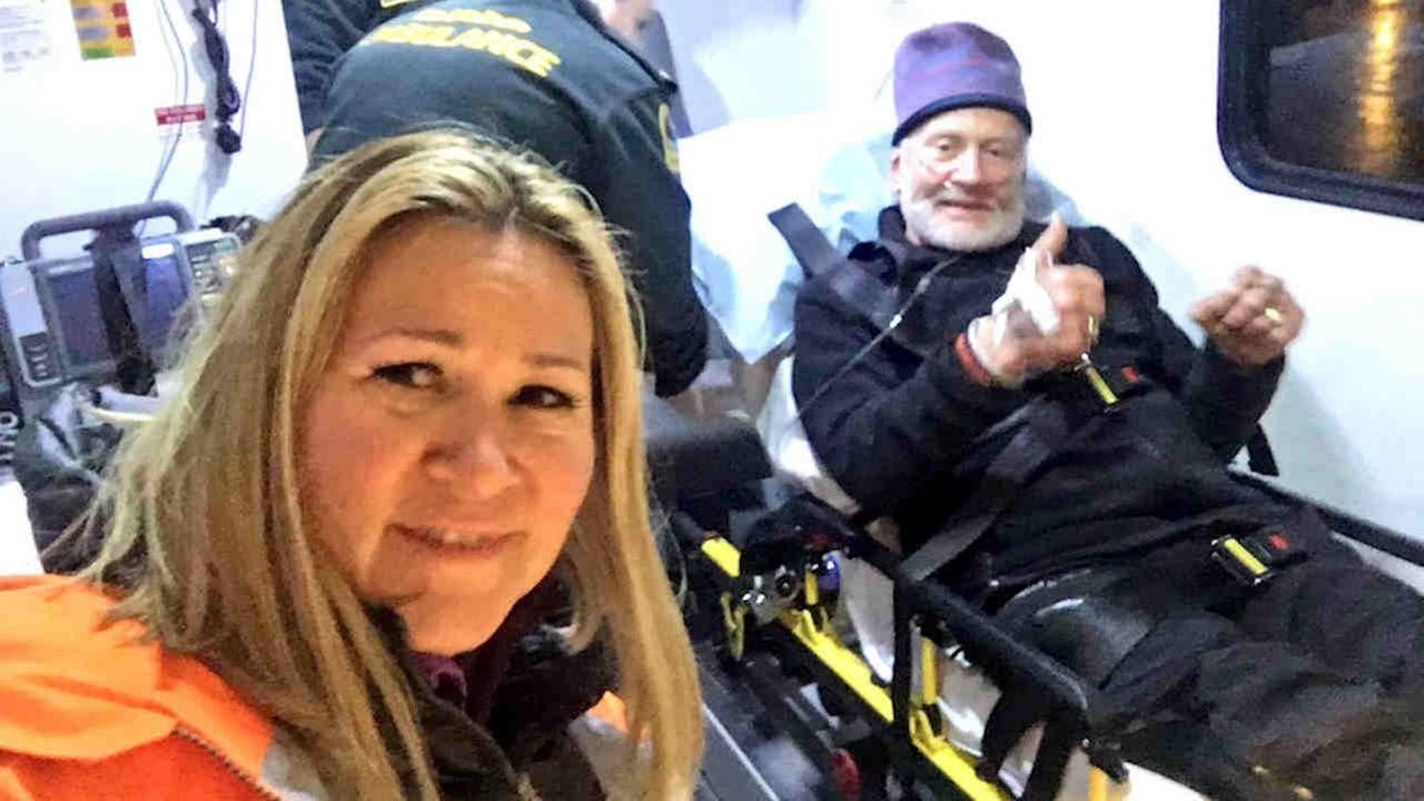 A U.S. military air crew evacuated former astronaut Buzz Aldrin from the South Pole.