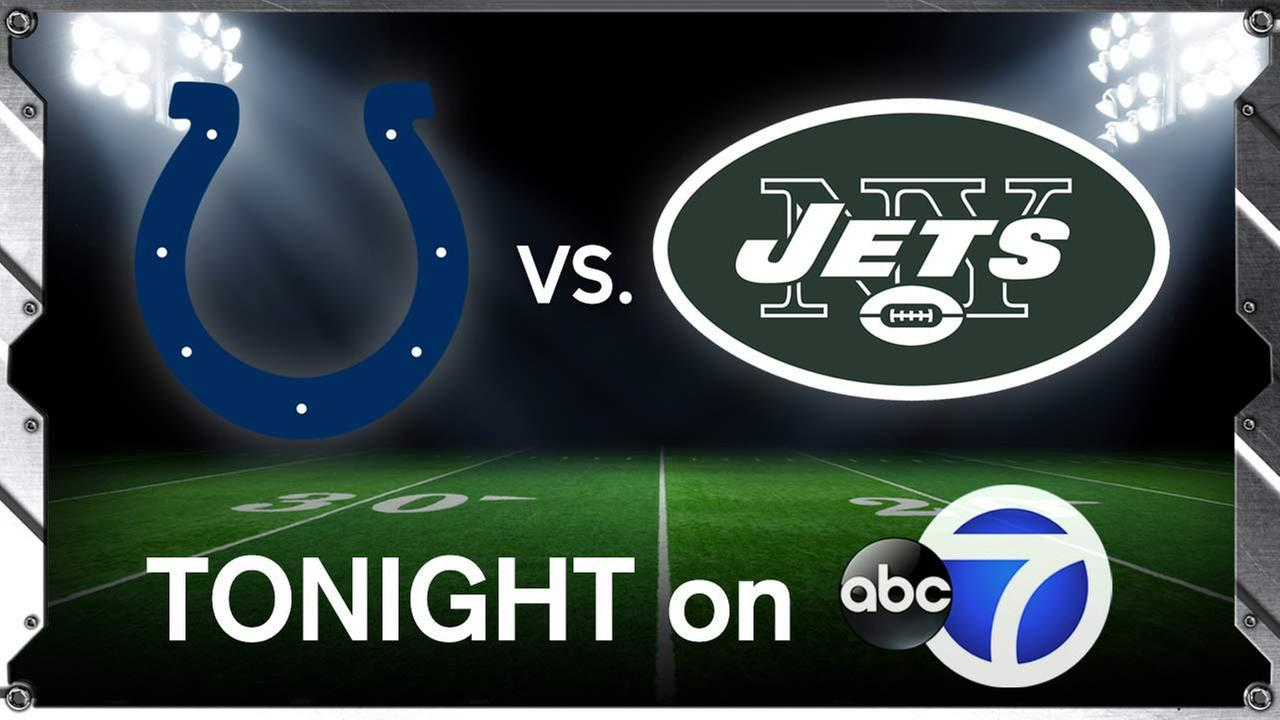 New York Jets host the Indianapolis Colts tonight on Monday Night Football on Channel 7