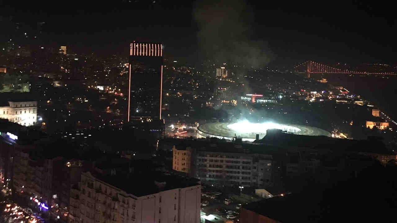 Two explosions hit Saturday night near a major soccer stadium in Istanbul, and Turkish authorities say about 20 police have been wounded.