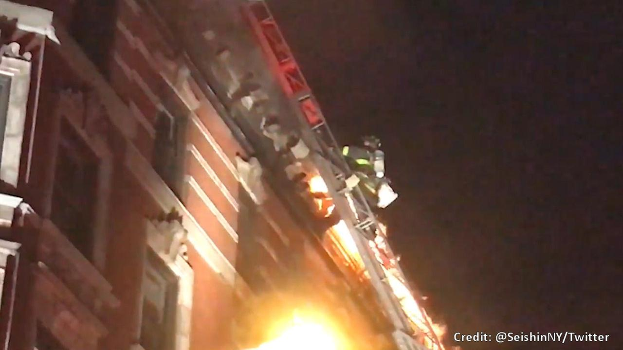 2-alarm fire in West Village apartment building rekindles