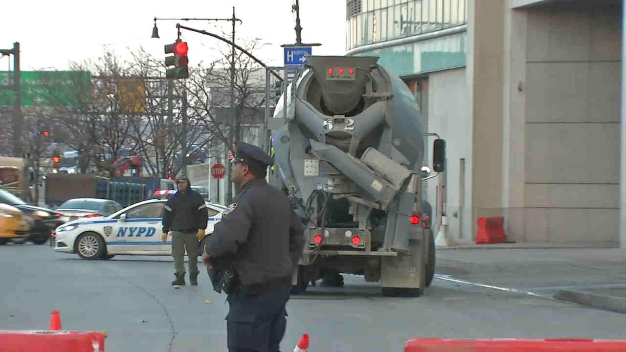A bicyclist was hit by a cement truck on the West Side Thursday.
