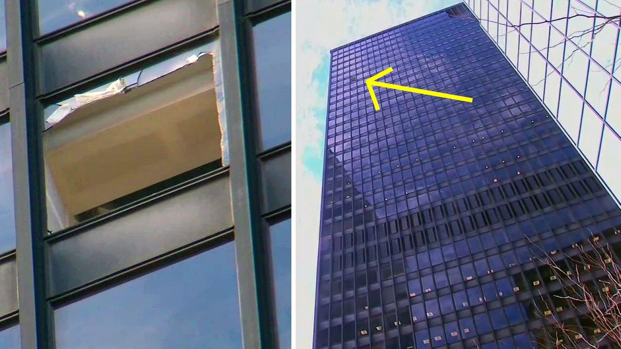 Glass from broken window falls 29 floors to Lower Manhattan sidewalk
