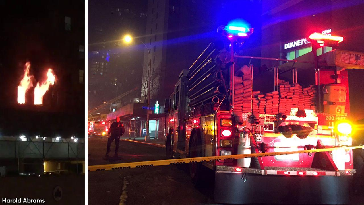 Injured, Including 4 Firefighters, in New York City High-Rise Fire
